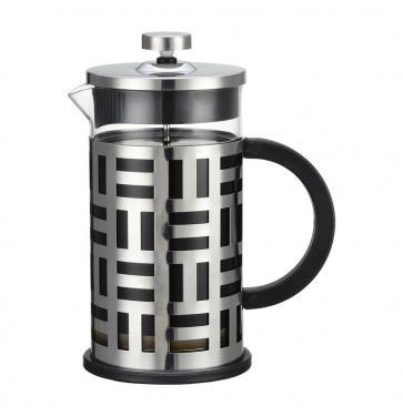 Френч-пресс Zeidan Z4147 серебристый чёрный 0.6 л металл/стекло цена и фото