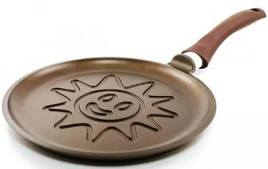 Сковорода Нева-Металл PG 6224 Золотая жемчужина Солнце 24 см сковорода нева металл pg128 золотая жемчужина 28 см алюминий