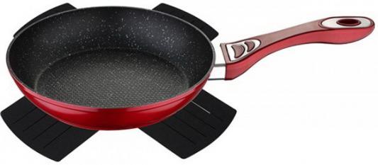 Сковорода Wellberg WB-3360-RD Titan Marble 24 см алюминий