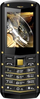 Мобильный телефон Texet TM-520R черный жёлтый мобильный телефон рация защищенный texet tm 515r