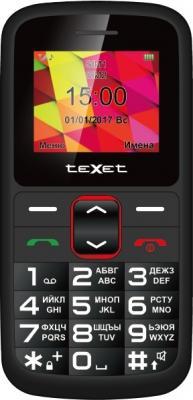 Мобильный телефон Texet TM-B217 черный красный 1.77 32 Мб мобильный телефон texet tm 204 красный 2 4 32 мб