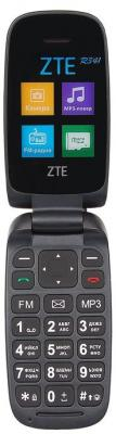 Мобильный телефон ZTE R341 черный мобильный телефон zte n1 золотистый