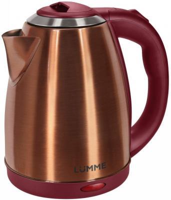 Чайник Lumme LU-132 1800 Вт красный рубин 2 л нержавеющая сталь