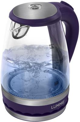 Чайник Lumme LU-220 2200 Вт темный топаз 1.8 л стекло чайник lumme lu 134 2200 вт черный жемчуг 2 л стекло