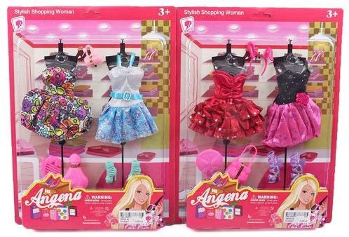 """Платье для кукол Shantou Gepai """"Angena"""" в ассортименте"""