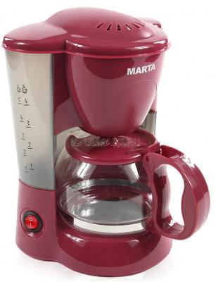 Кофеварка Marta MT-2111 бургунди набор столовых приборов marta mt 2701 twinkle