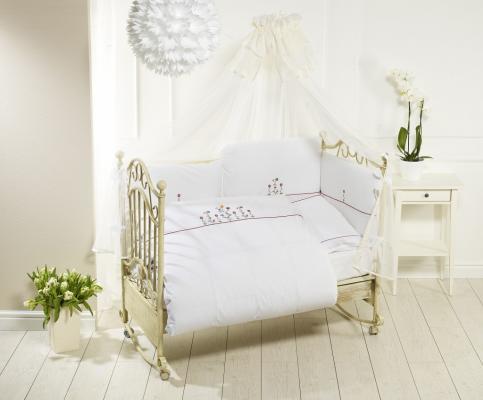 Купить Постельный сет 6 предметов Feretti Vintage Flowers (white), белый, 120 х 60 см, Постельные сеты