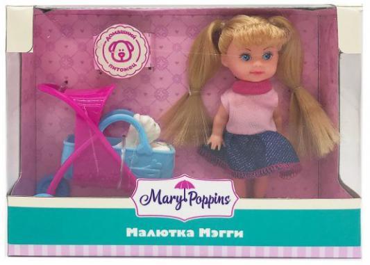 """Кукла Mary Poppins """"Малютка Мегги"""" - Прогулка с питомцем 9 см"""