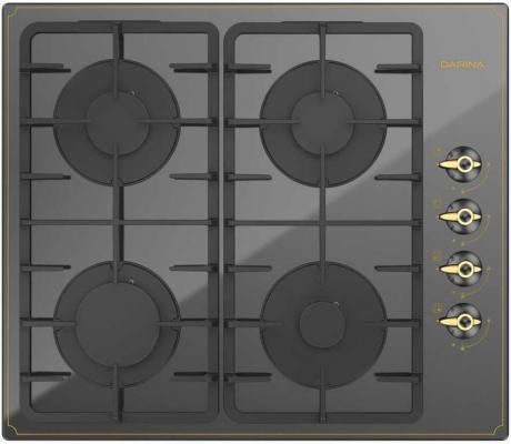 Варочная панель газовая Дарина 1T17 BGС 341 12 B черный