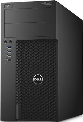 Фото Системный блок DELL Precision 3620 E3-1220v5 3.0GHz 8Gb 1Tb 256Gb SSD Quadro P1000-4Gb DVD-RW Linux черный 3620-4452 системный блок