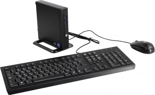 Компьютер HP 260 G2 DM Intel Pentium-4405U 4Gb 500Gb Intel HD Graphics 510 Windows 10 Professional черный 2KL50EA моноблок hp proone 400 g2 intel pentium g4400t 4гб 500гб intel hd graphics 510 dvd rw windows 10 черный [t4r55ea]