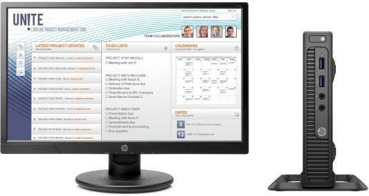 Неттоп HP Bunble 260 G2.5 Mini Intel Core i3-6100U 4Gb 500Gb Intel HD Graphics 520 Windows 10 Professional черный 2TP21EA моноблок hp eliteone 800 g2 23 6 led core i3 6100 3700mhz 4096mb hdd 500gb intel hd graphics 530 64mb ms windows 10 professional 64 bit [t4k01ea]