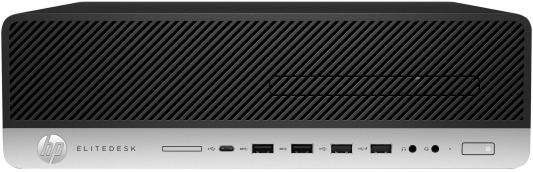 Системный блок HP EliteDesk 800 G3 i5-6500 3.2GHz 4Gb 500Gb HD530 DVD-RW Win7Pro Win10Pro серебристо-черный 1HK70EA ноутбук hp 15 bs027ur 1zj93ea core i3 6006u 4gb 500gb 15 6 dvd dos black