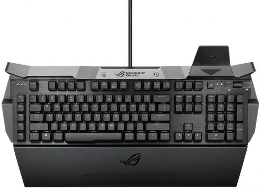 Клавиатура проводная ASUS ROG Horus GK2000 USB черный Cherry MX Red клавиатура corsair strafe rgb cherry mx red black usb ch 9000227 ru