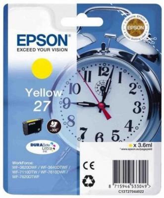 Картридж Epson C13T27044022 для Epson WF7110/7610/7620 желтый