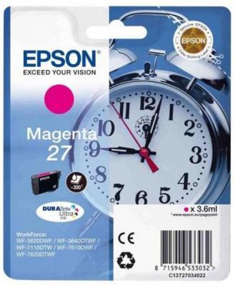 Картридж Epson C13T27034022 для Epson WF7110/7610/7620 пурпурный