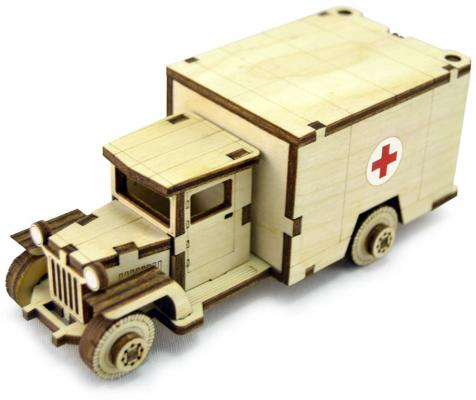 Конструктор LEMMO Советский Грузовик ЗИС-5М 34 элемента ЗИС-3 конструктор lemmo советский грузовик зис 5в 49 элементов