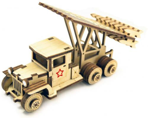 Деревянный конструктор LEMMO Катюша 58 элементов конструктор деревянный лесовичок разборный домик 7