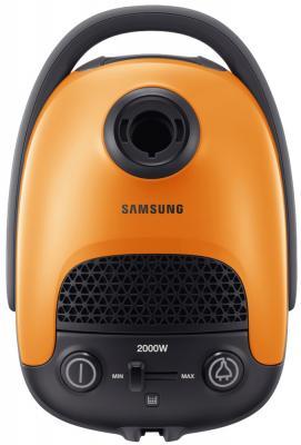 Пылесос Samsung VC20F30WDHL/EV сухая уборка оранжевый чёрный