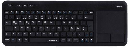 Клавиатура беспроводная HAMA R1173091 USB черный клавиатура беспроводная luft welle lw mwk01