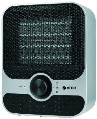 Тепловентилятор Vitek VT-1759(SR) 1500 Вт термостат вентилятор серебристый чёрный вентилятор vitek vt 1921