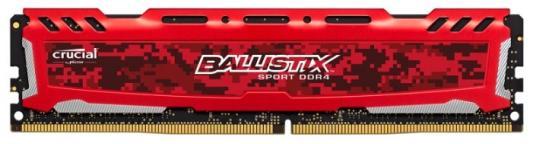 Оперативная память 8Gb PC4-21300 2666MHz DDR4 DIMM Crucial BLS8G4D26BFSE модуль памяти crucial ballistix sport lt red ddr4 dimm 2666mhz pc4 21300 cl16 8gb bls8g4d26bfse