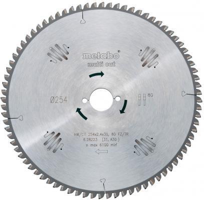 Пильный диск Metabo254x2.4х30мм HM 80FZ/TZ 628223000 пильный диск metabo305x30 hm 56wz5отр д торцовок 628064000