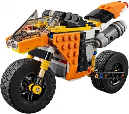 Конструктор LEGO Creator: Оранжевый мотоцикл 194 элемента 31059