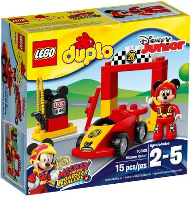 Конструктор LEGO Duplo: Гоночная машина Микки 15 элементов 10843