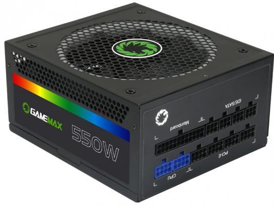 БП ATX 550 Вт GameMax GM-550RGB блок питания atx 800 вт gamemax gm 800 ex221641rus