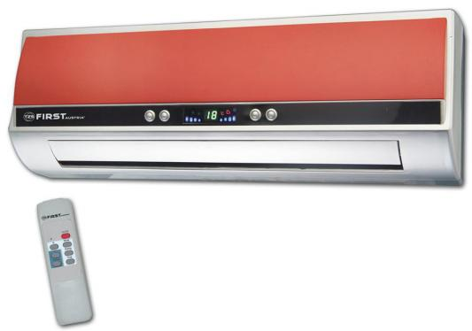 Тепловентилятор First FA-5571-8-RE 2000 Вт дисплей пульт ДУ термостат таймер вентилятор красный белый тепловентилятор first fa 5571 8 re 2000 вт красный