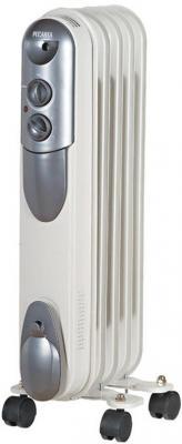 Масляный радиатор Ресанта ОМПТ- 5Н 1000 Вт ручка для переноски колеса для перемещения термостат белый