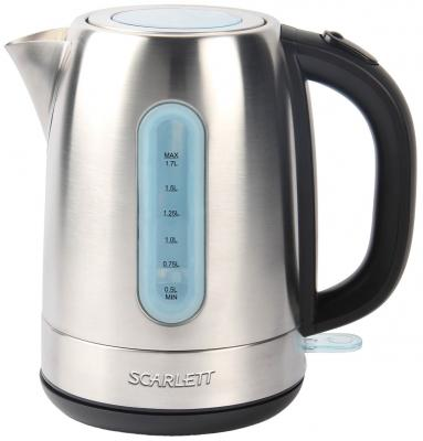 Чайник Scarlett SC-EK21S38 2200 Вт серебристый 1.7 л нержавеющая сталь радиатор scarlett sc 21 2009 sb