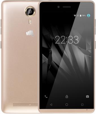 "Смартфон Micromax Q354 медное золото 5"" 8 Гб Wi-Fi GPS 3G"