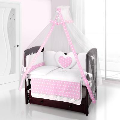 Балдахин на детскую кроватку Beatrice Bambini bianco Neve (anello rosa)