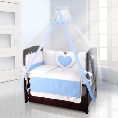 Балдахин на детскую кроватку Beatrice Bambini bianco Neve (puntini blu)