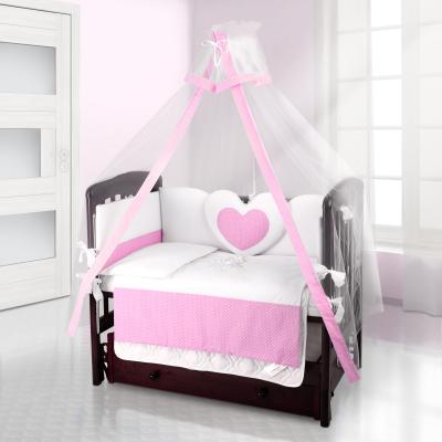 Балдахин на детскую кроватку Beatrice Bambini bianco Neve (puntini rosa)