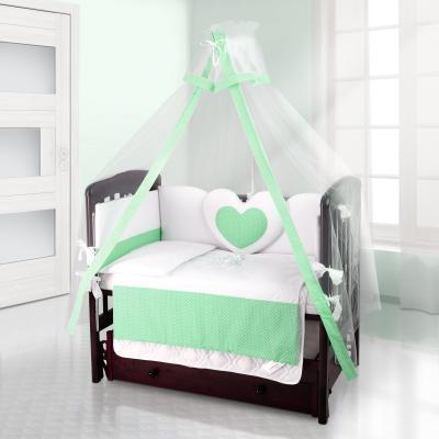 Балдахин на детскую кроватку Beatrice Bambini bianco Neve (puntini verde)