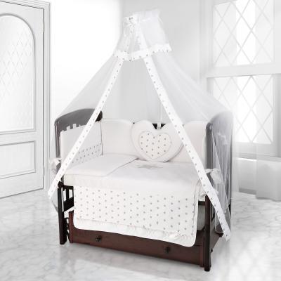 Балдахин на детскую кроватку Beatrice Bambini bianco Neve (stella bianco grigio)