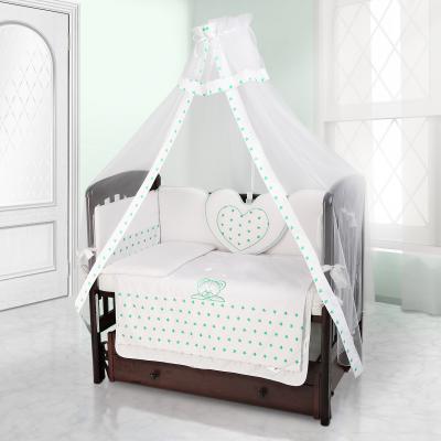 Балдахин на детскую кроватку Beatrice Bambini bianco Neve (stella bianco verde)