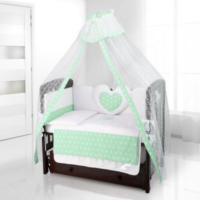 Постельный сет Beatrice Bambini Cuore Stella (bianco verde)