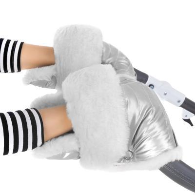 Муфта-рукавички для коляски Esspero Christer (натуральная шерсть/silver)