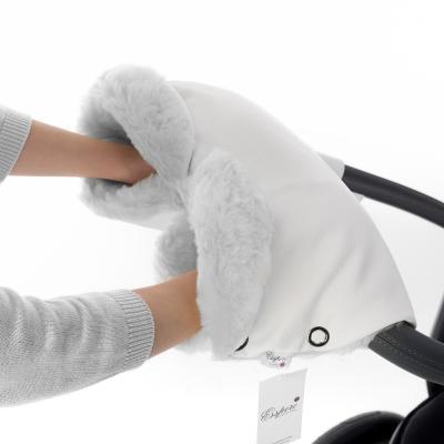 Муфта для рук на коляску Esspero Ingrid (100% овечья шерсть/white)