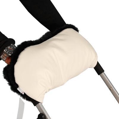 Муфта для рук на коляску Esspero Lit Leatherette (эко кожа/beige-black)
