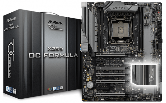 Материнская плата ASRock X299 OC Formula Socket 2066 X299 4xDDR4 5xPCI-E 16x 1xPCI-E 1x 1xPCI-E 4x 8 ATX asrock h61m vg4 original used desktop motherboard h61 socket lga 1155 i3 i5 i7 ddr3 16g usb2 0 micro atx