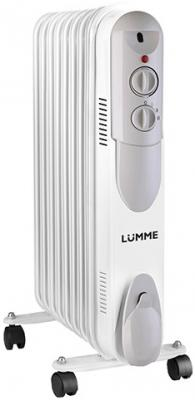 Масляный радиатор Lumme LU-622 2000 Вт термостат колеса для перемещения белый