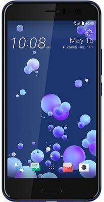 Смартфон HTC U11 синий 5.5 128 Гб NFC LTE Wi-Fi GPS 3G 99HAMB080-00 смартфон htc 10 lifestyle золотистый 5 2 32 гб nfc lte wi fi gps 3g 99hajn037 00