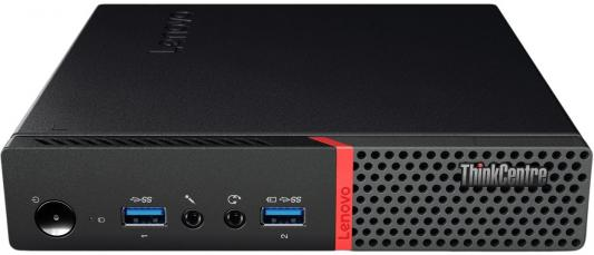 Неттоп Lenovo ThinkCentre M600 Tiny Intel Celeron-J3060 4Gb SSD 128 Intel HD Graphics 400 Без ОС черный красный 10GBS01C00