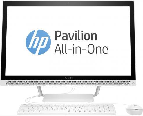 Моноблок 27 HP Pavilion 27-r002ur 1920 x 1080 Intel Core i3-7100T 4Gb 1Tb Intel HD Graphics 630 DOS белый 2MJ62EA ноутбук hp 15 bs027ur 1zj93ea core i3 6006u 4gb 500gb 15 6 dvd dos black