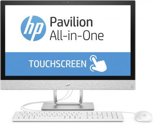"Моноблок 24"" HP Pavilion 24-r027ur 1920 x 1080 Intel Pentium-G4560T 4Gb 1Tb Intel HD Graphics 630 DOS белый 2MJ52EA"